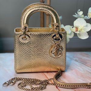 Christian Dior 'mini lady Dior' Python Bag.RARE!